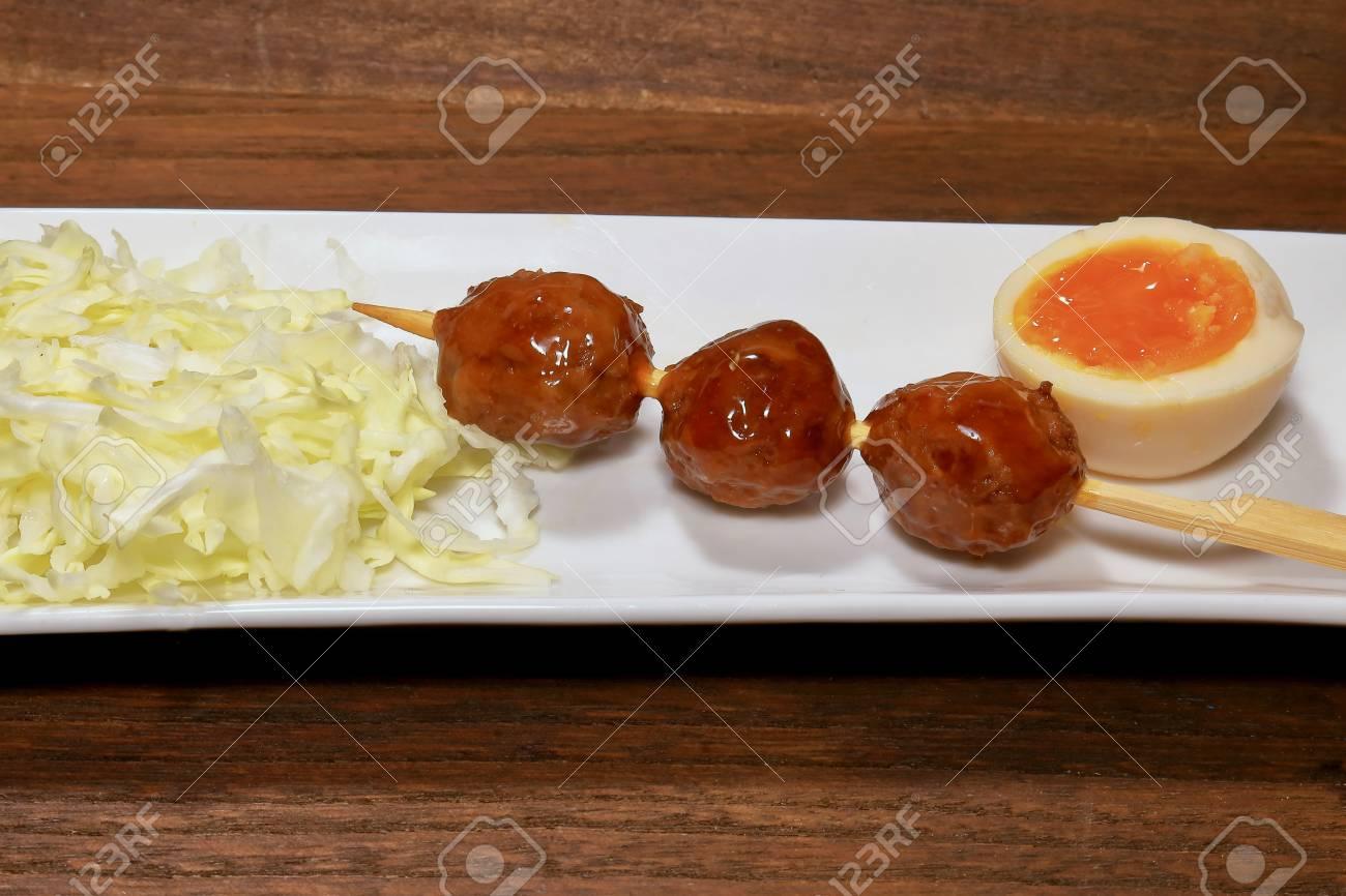 dango of meat bitten by skewer ロイヤリティーフリーフォト