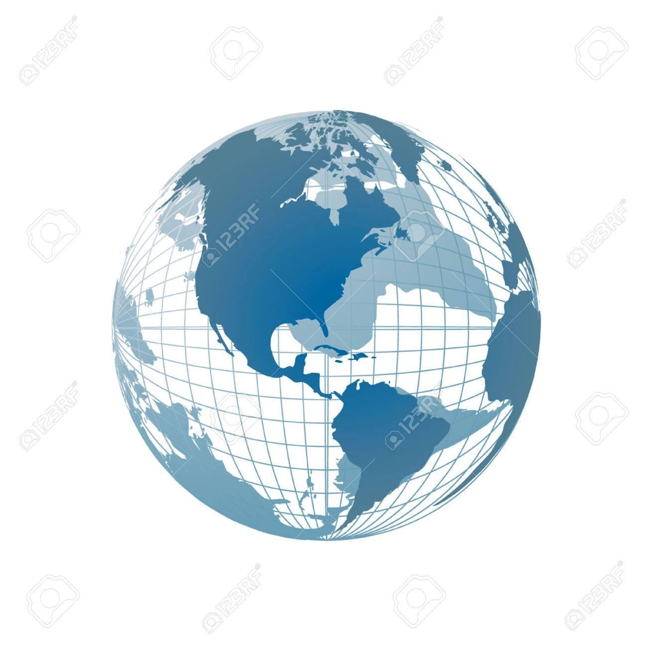 World map, 3D globe Stock Vector - 2558698