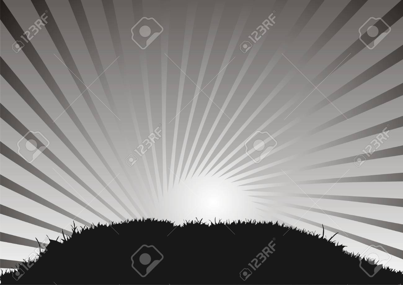 Grass and sky, abstract background Stock Vector - 2570880