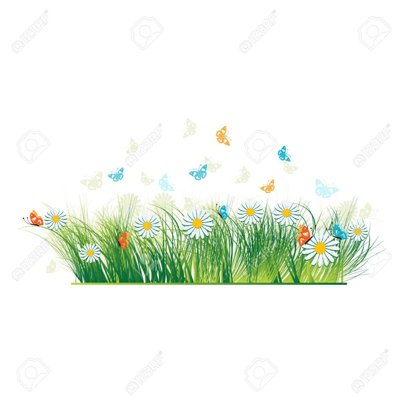 Grass silhouette green, summer background Stock Vector - 3093045