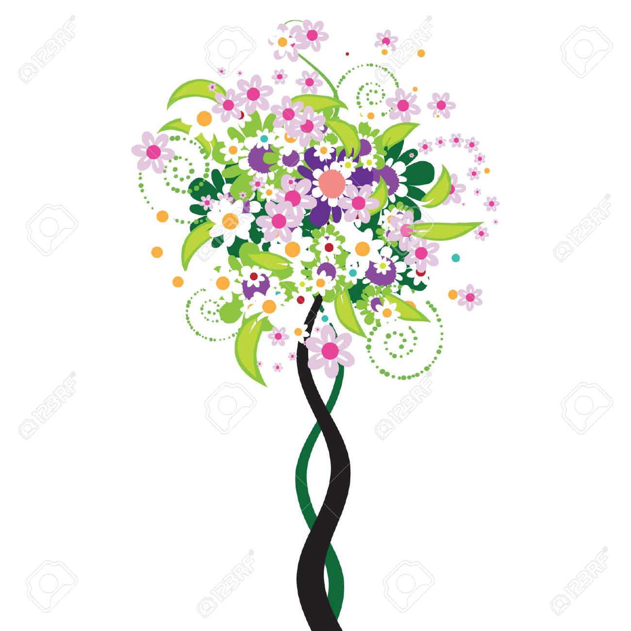 Beautiful floral tree Stock Vector - 3234587