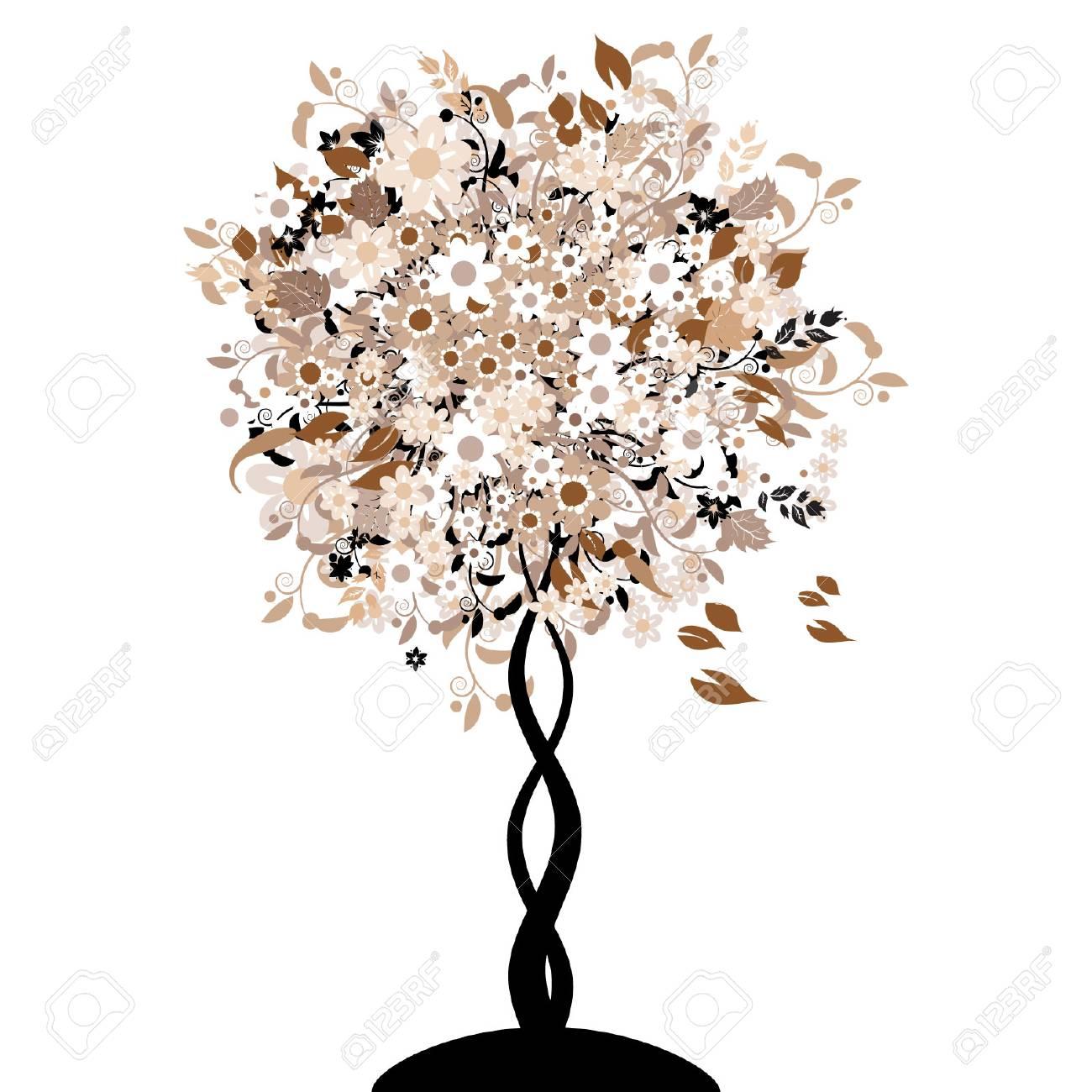 Bautiful floral tree Stock Vector - 3331231