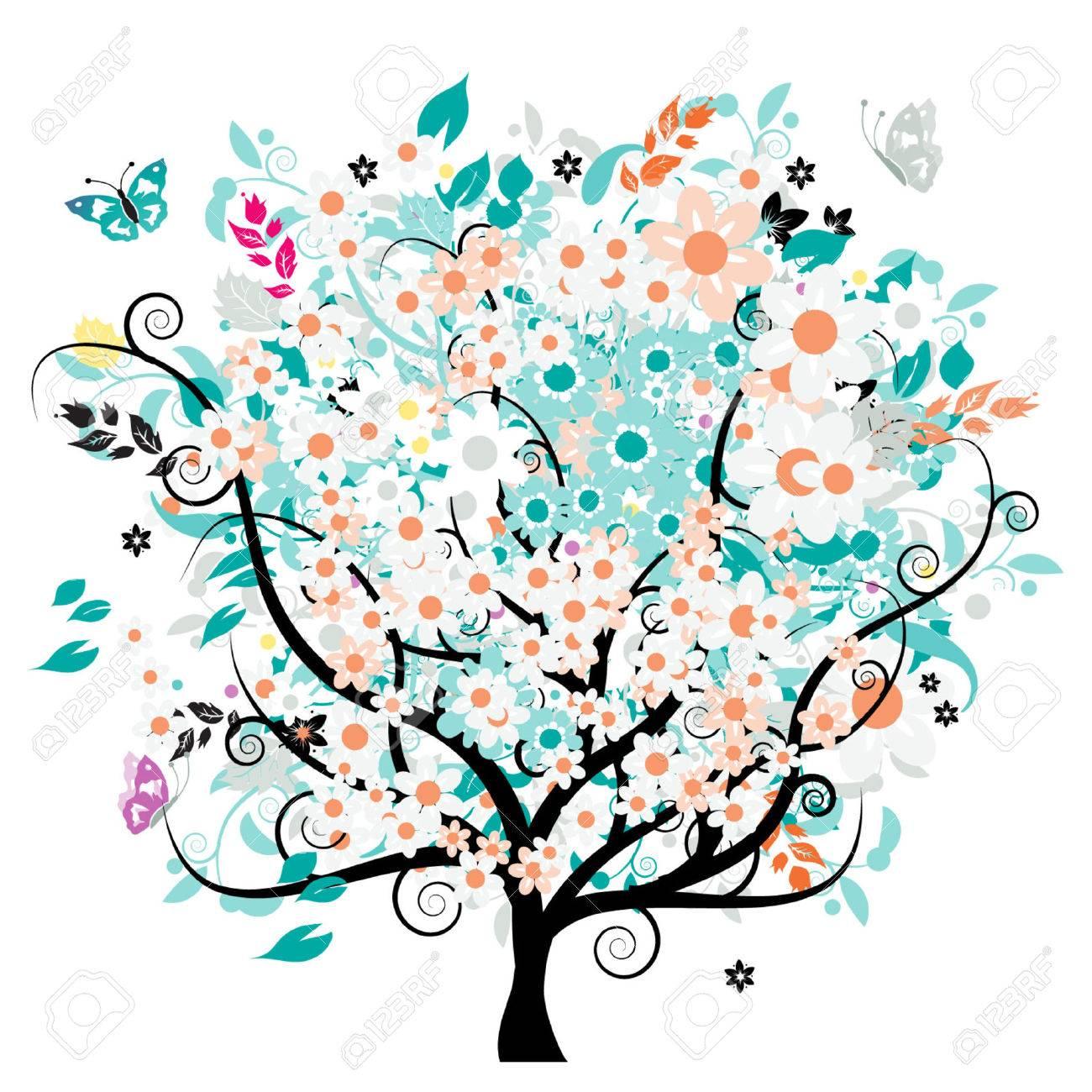 Bautiful floral tree Stock Vector - 3338662