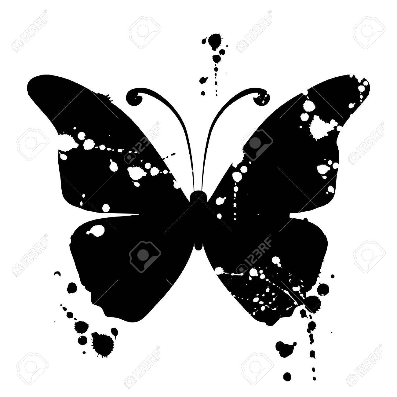 butterfly silhouette for you design royalty free cliparts vectors