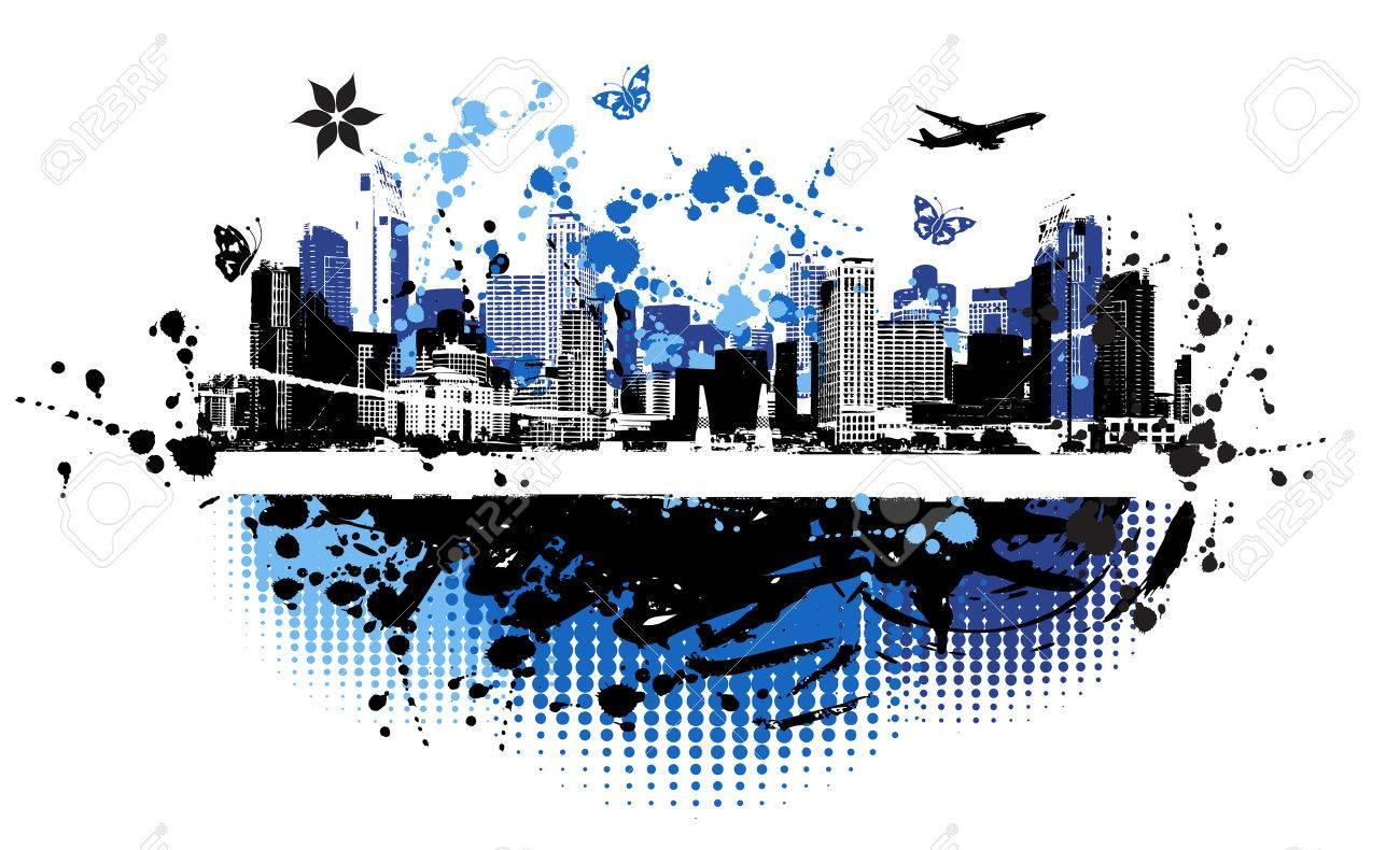 Cityscape background, urban art Stock Vector - 4127892
