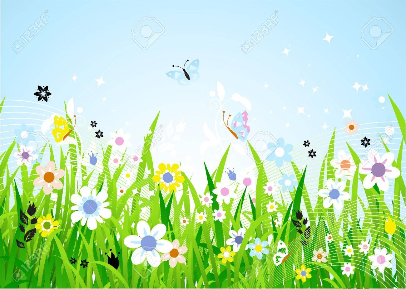 Znalezione obrazy dla zapytania wiosenna łąka