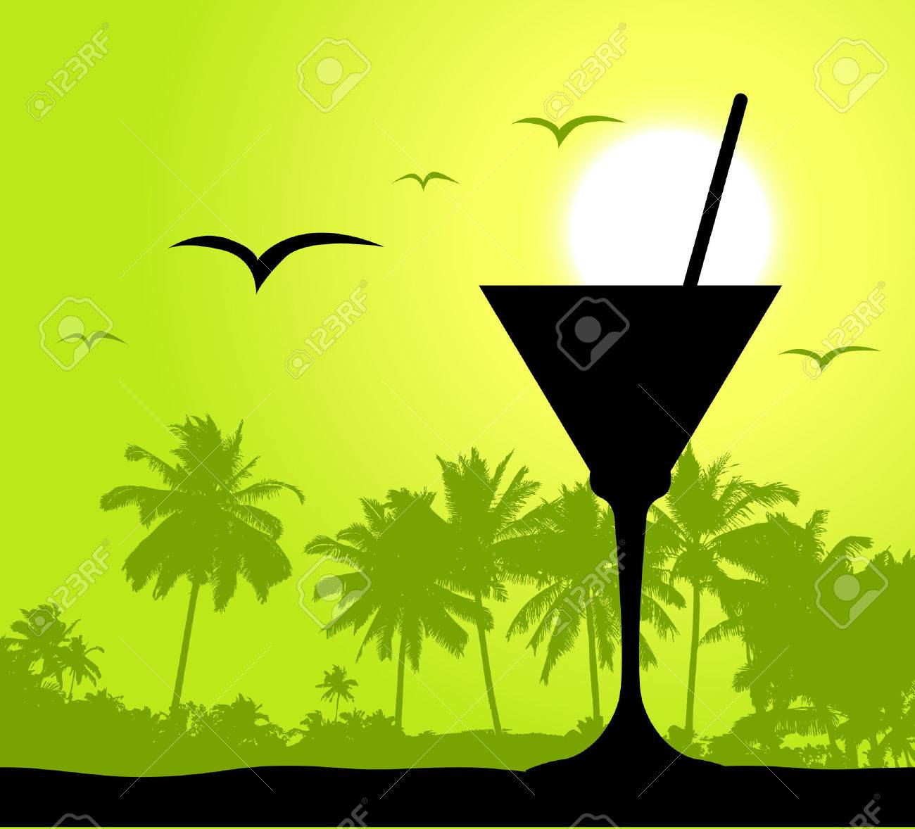 Coctail party on the beach Stock Vector - 4562328