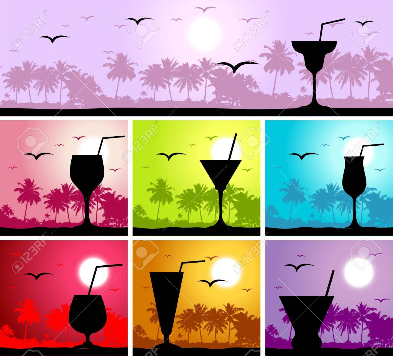 Coctail party on the beach Stock Vector - 4562363