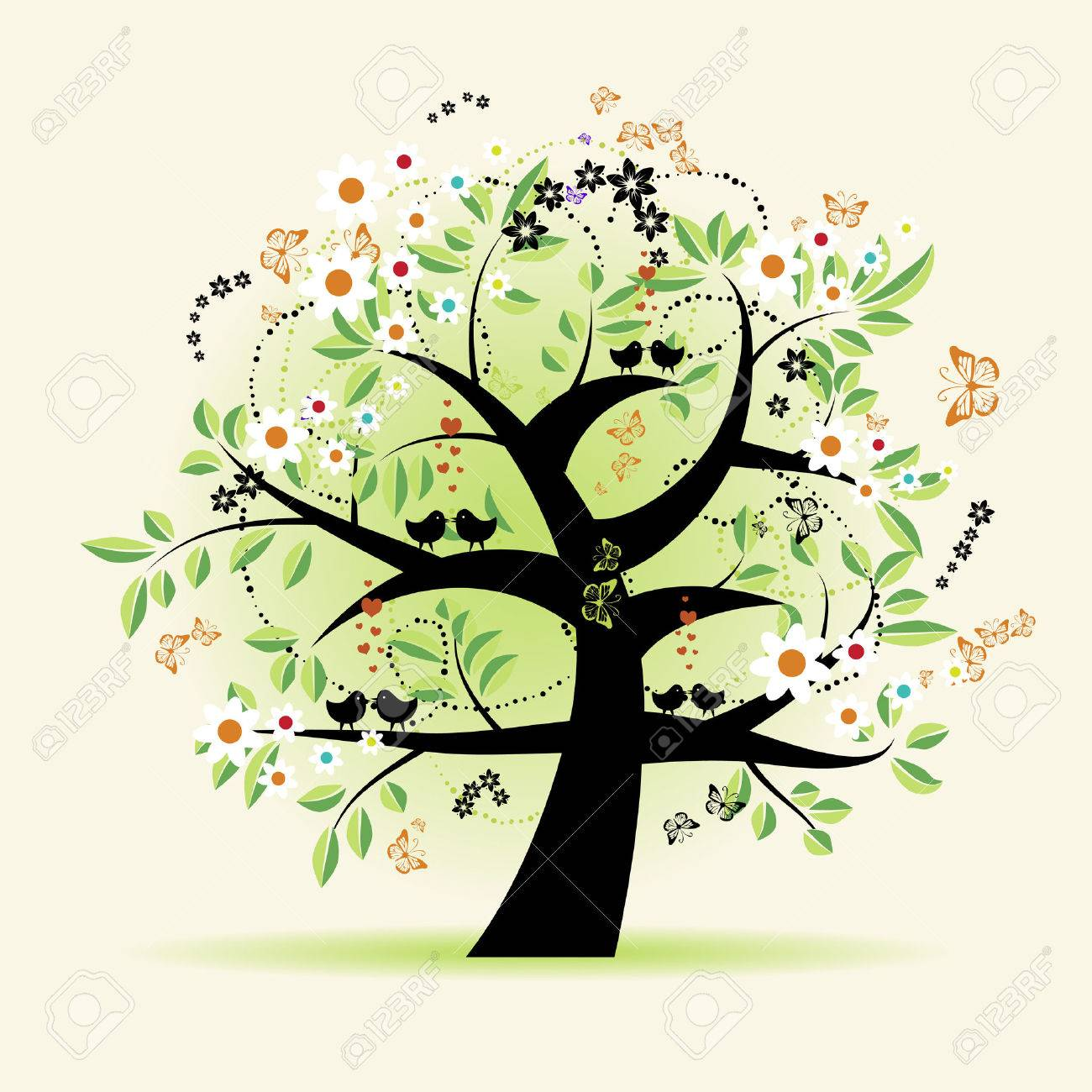 Floral tree beautiful Stock Vector - 4664070