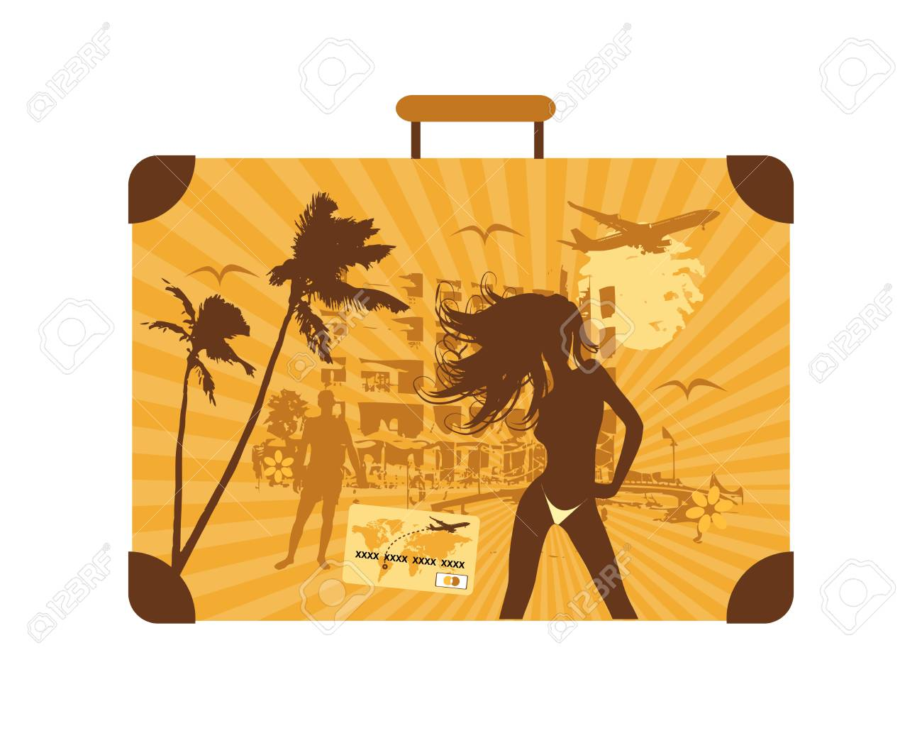 Summer holiday, suitcase Stock Vector - 4837451