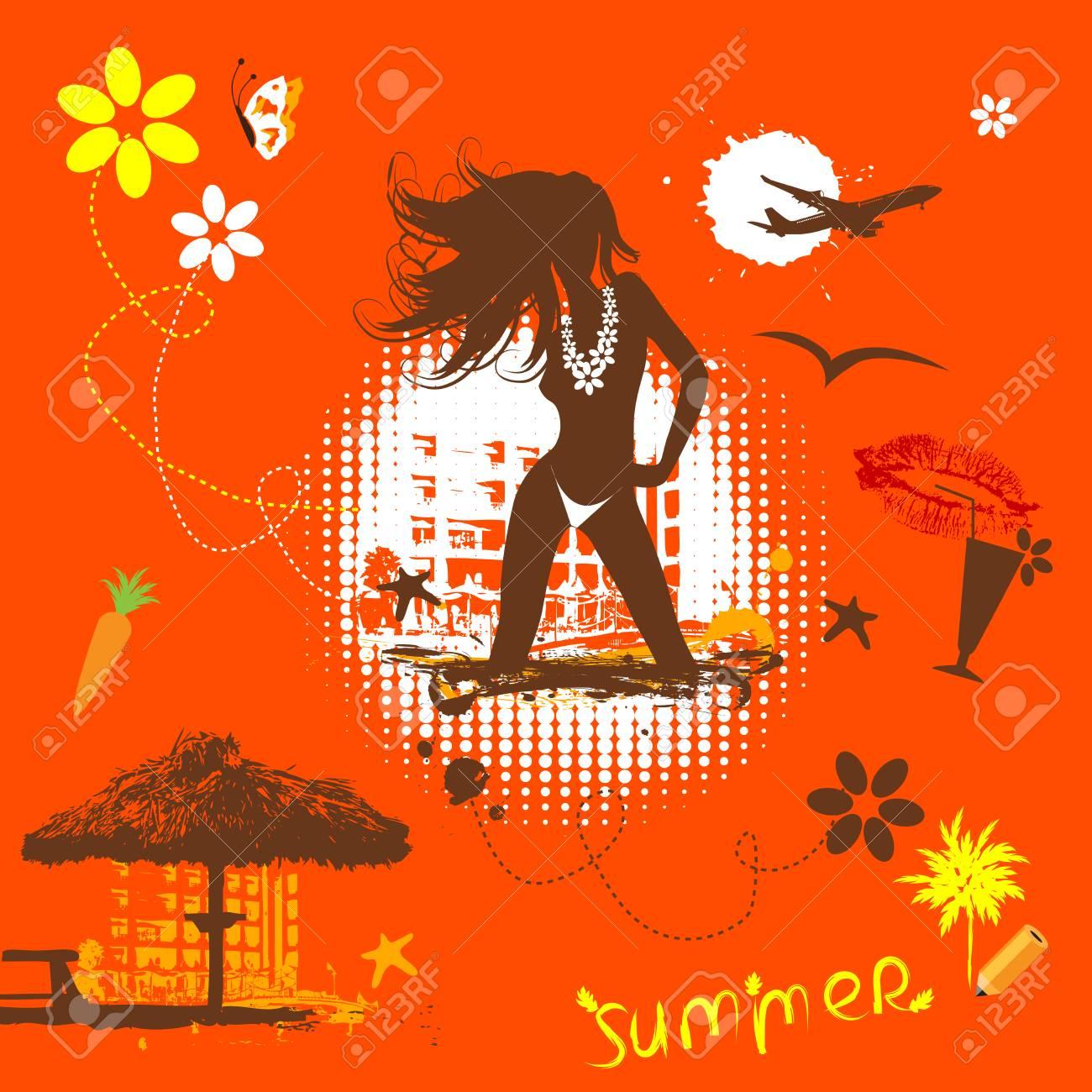 Summer vacations dream Stock Vector - 4837458