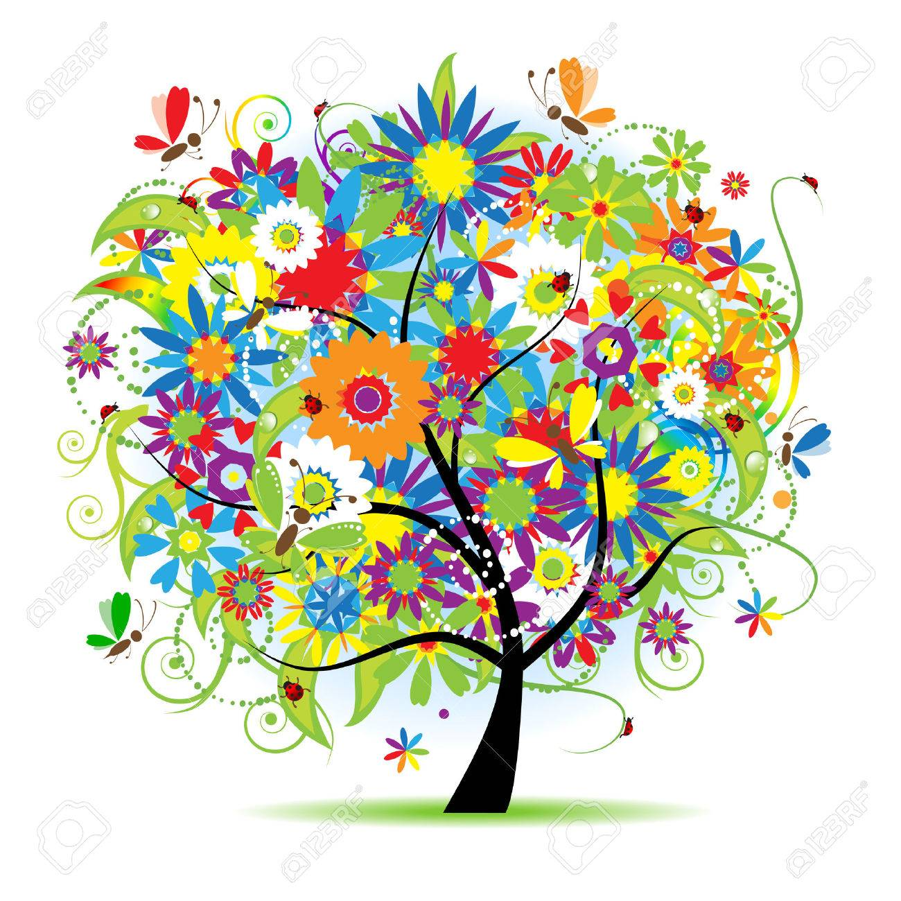 Floral tree beautiful Stock Vector - 5158652