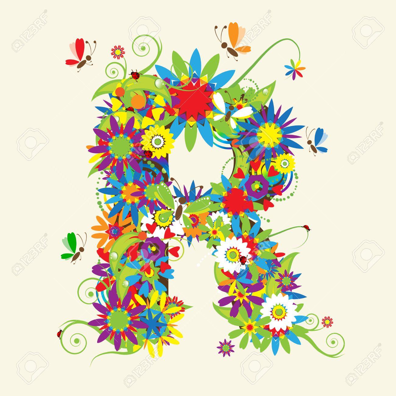 letter r  Letter R   R Letter In Flower