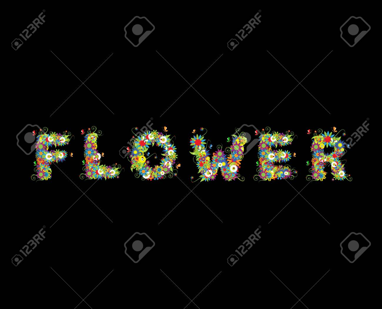 Floral design. See also letters in my gallery Stock Photo - 5348845