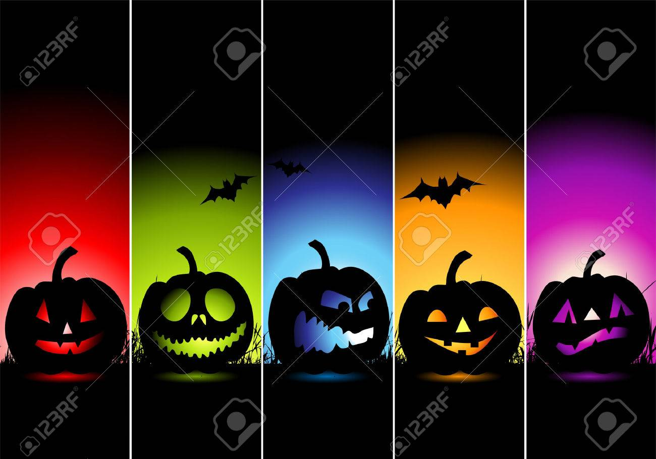 Halloween Banners For Your Design Royalty Free Cliparts, Vectors ...