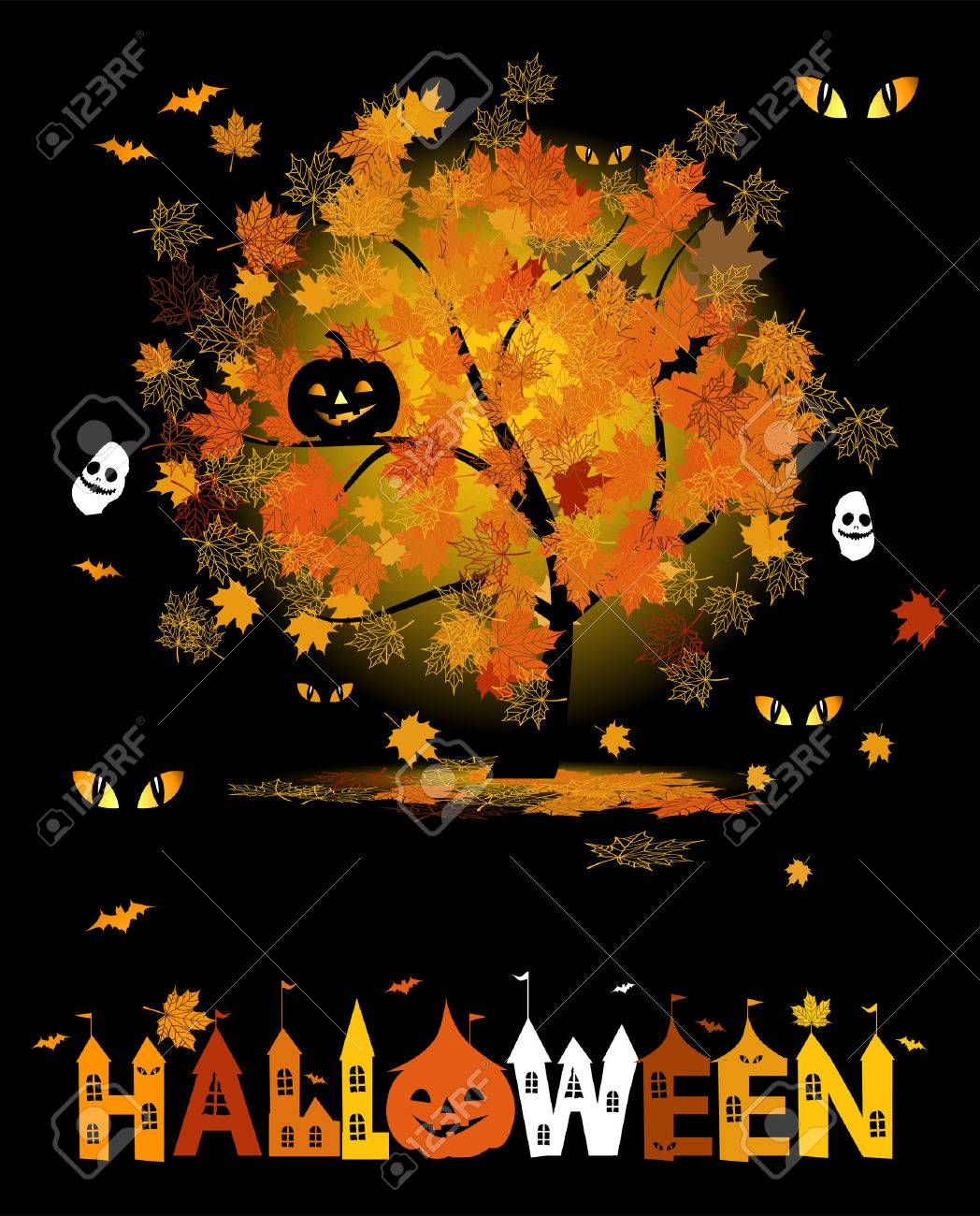 Halloween Party Background For Your Design Royalty Free Cliparts ...