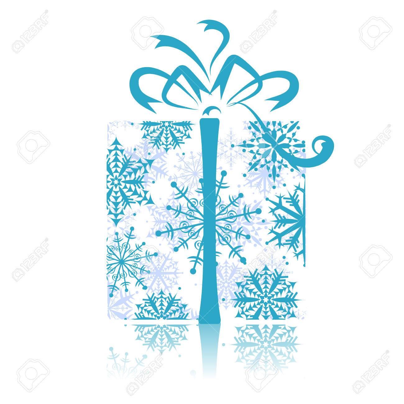 Christmas gift box Stock Vector - 5918706
