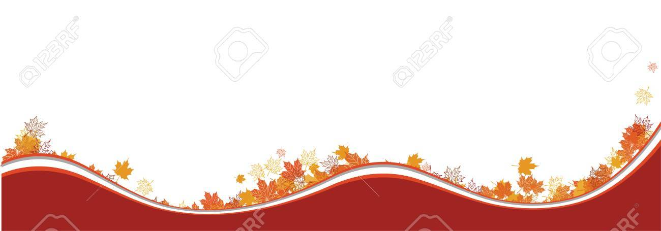 Autumn background, maple leafs Stock Vector - 6040071