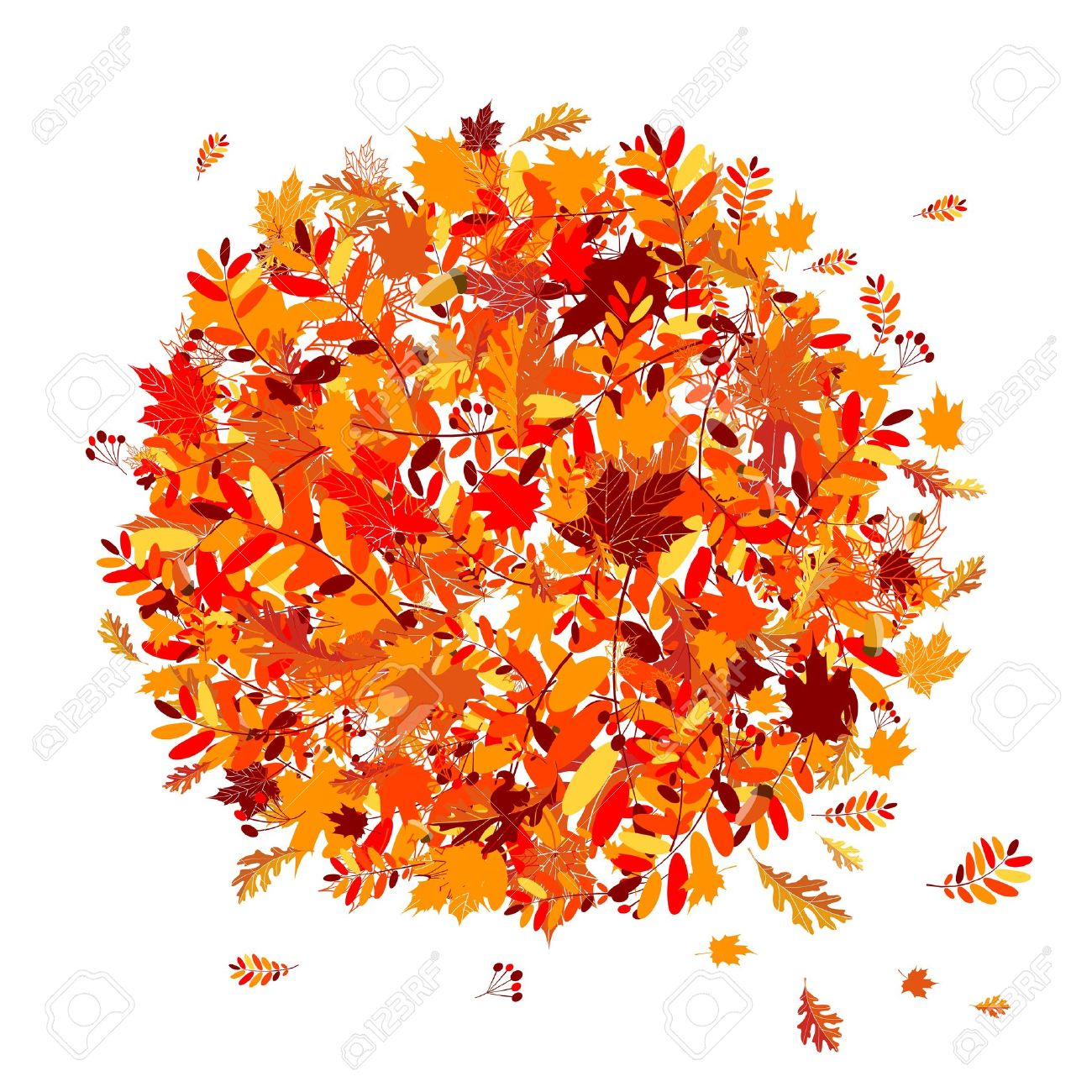 Autumn leaves background for your design Stock Vector - 7770185