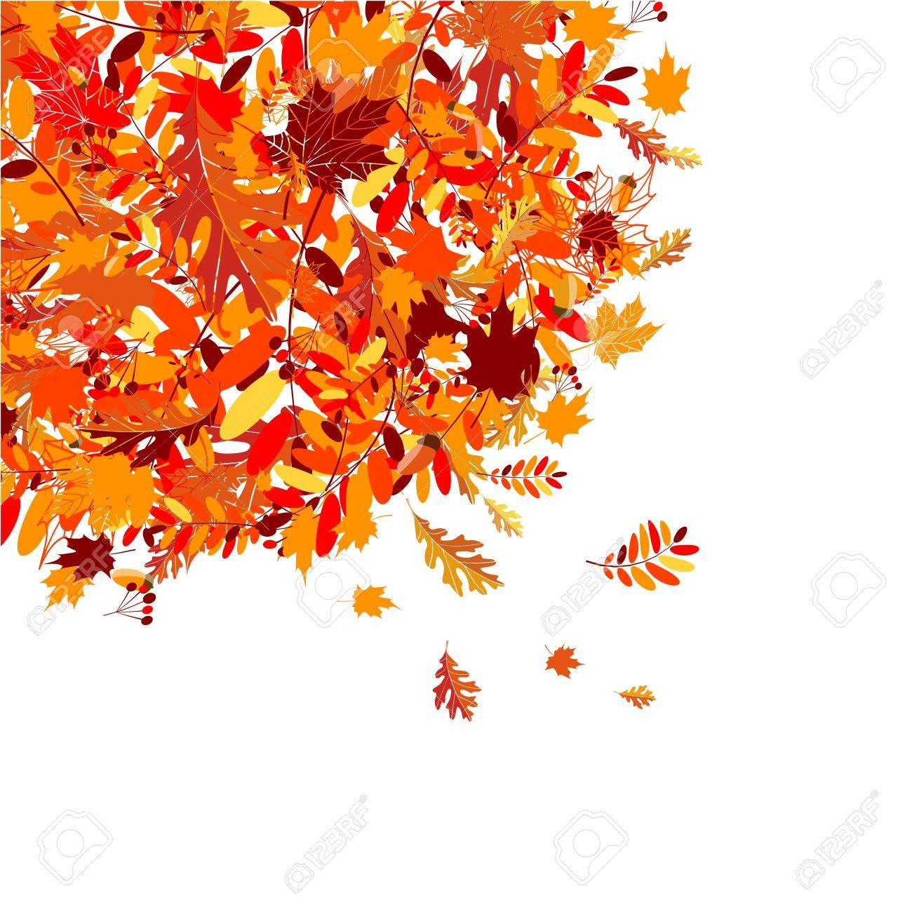Autumn leaves background for your design Stock Vector - 7770183