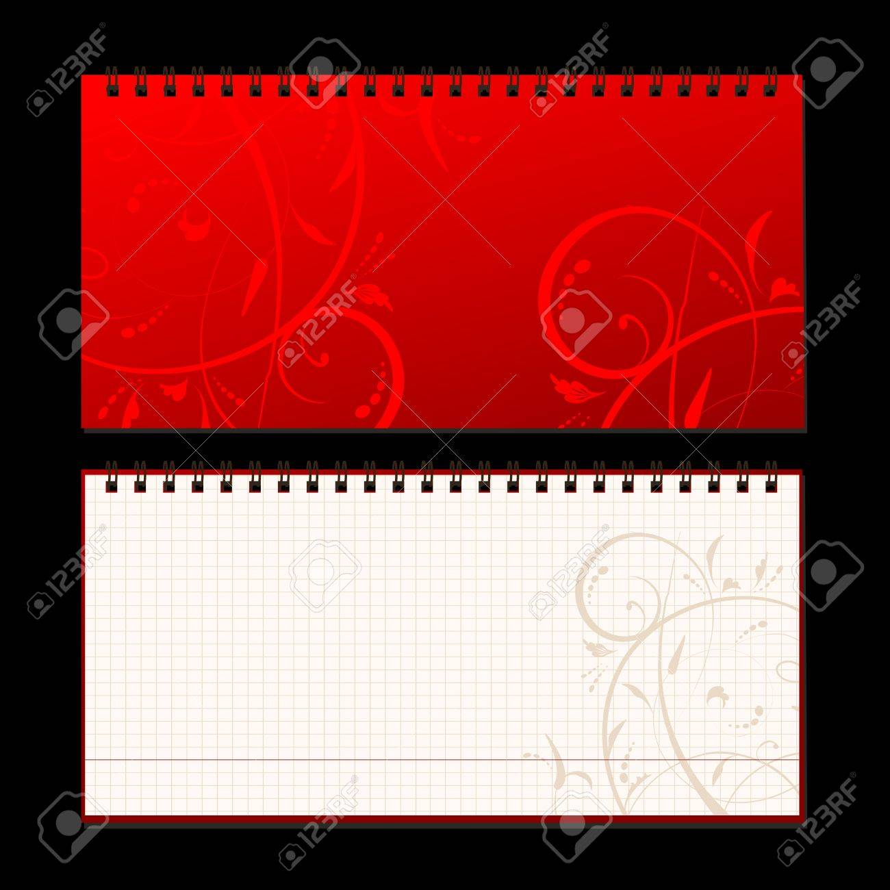 Notebook cover and page for your design Stock Vector - 7770149