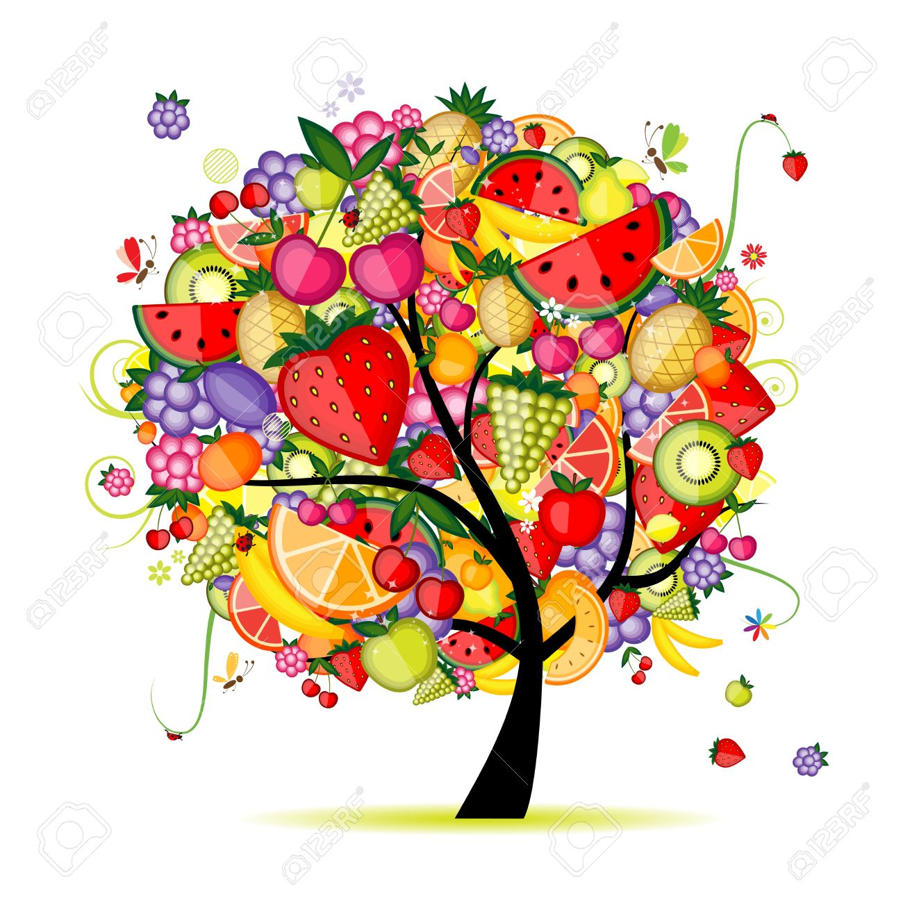Energy fruit tree for your design Stock Vector - 8362587