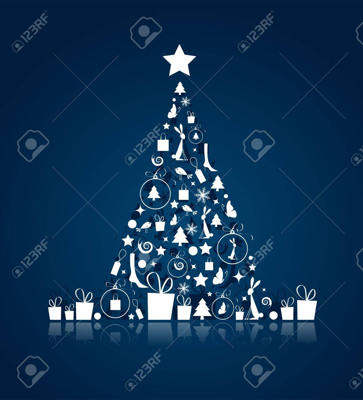Christmas tree beautiful for your design Stock Vector - 8362530