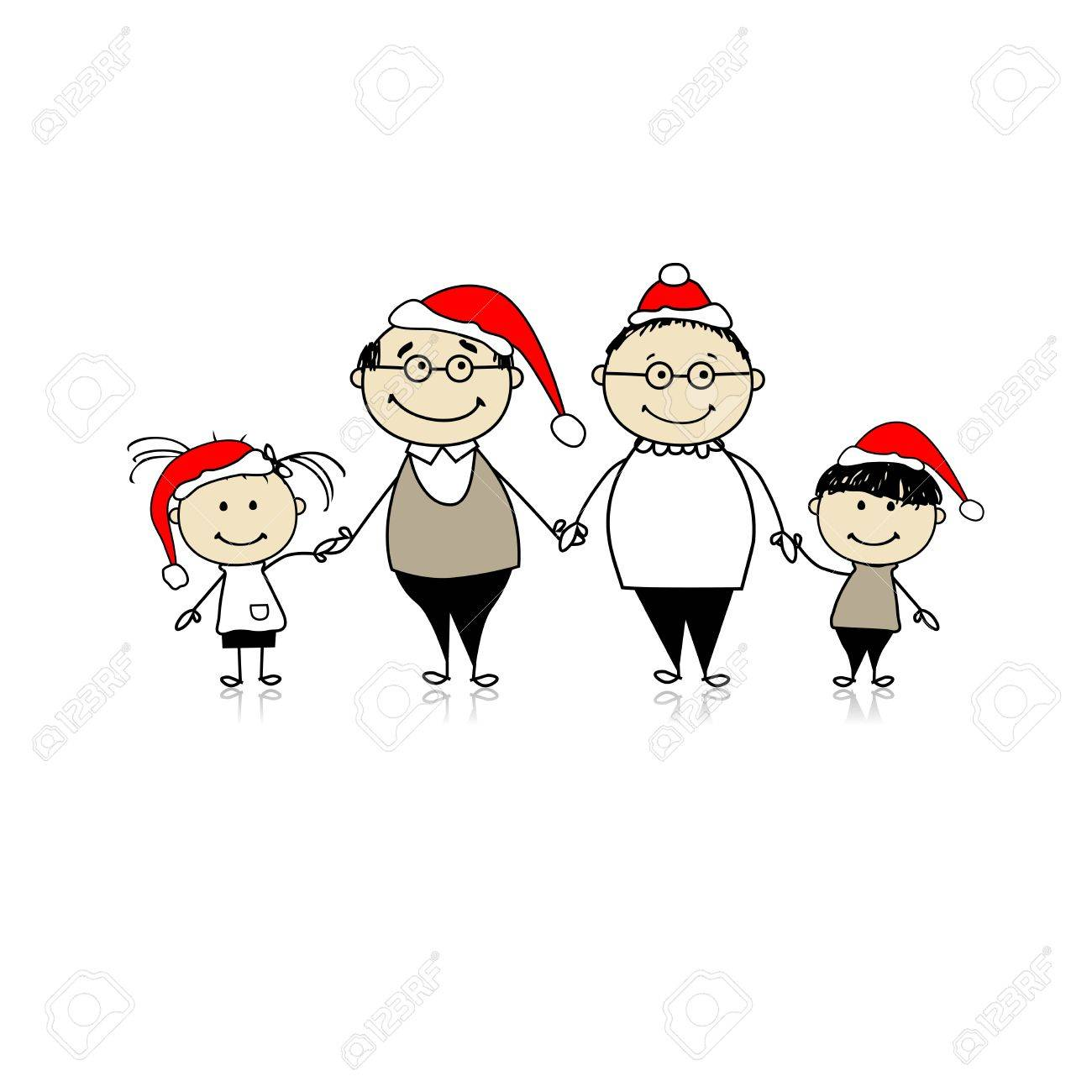 Merry Christmas. Happy Family Together - Grandparents And ...