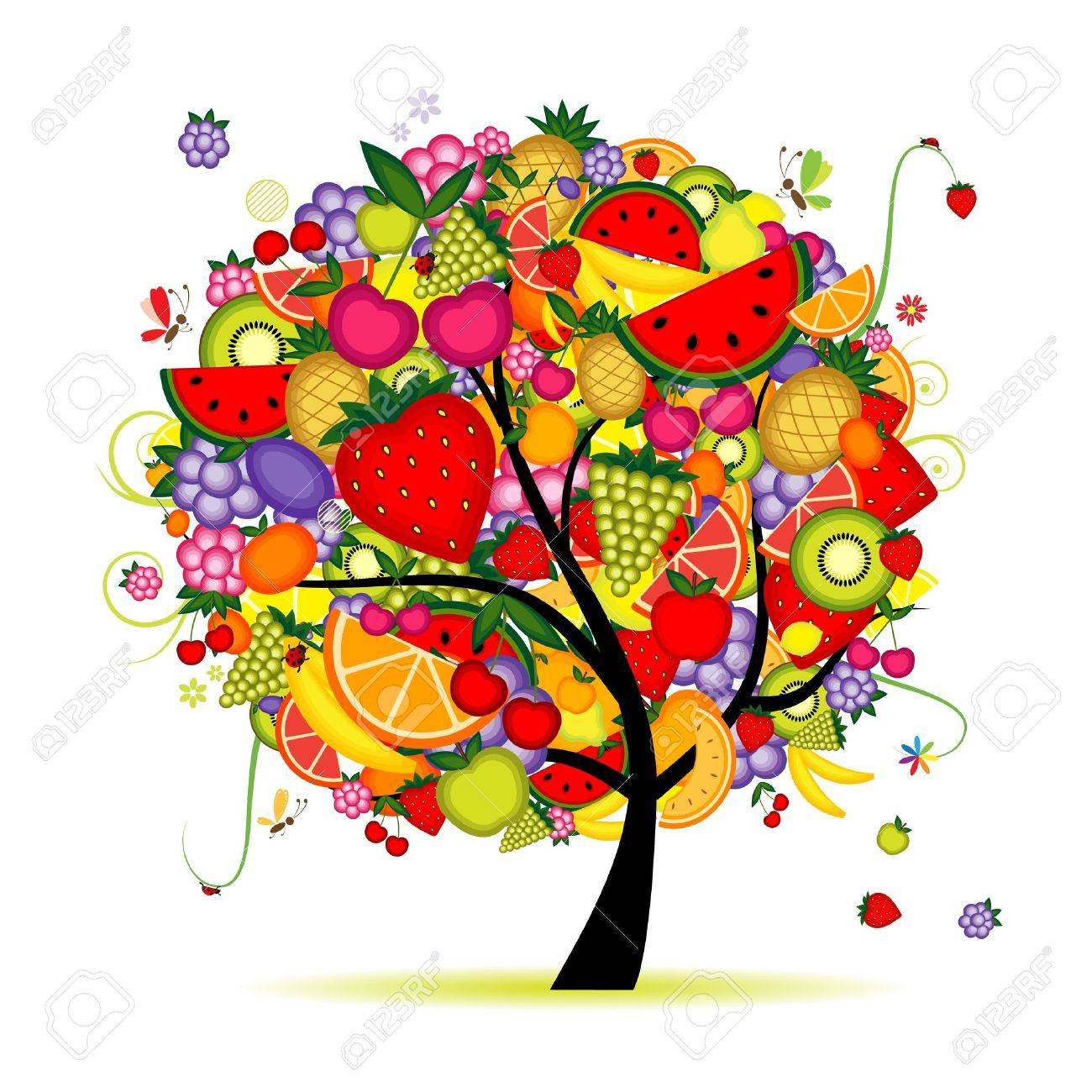 Energy fruit tree for your design Stock Vector - 8362550