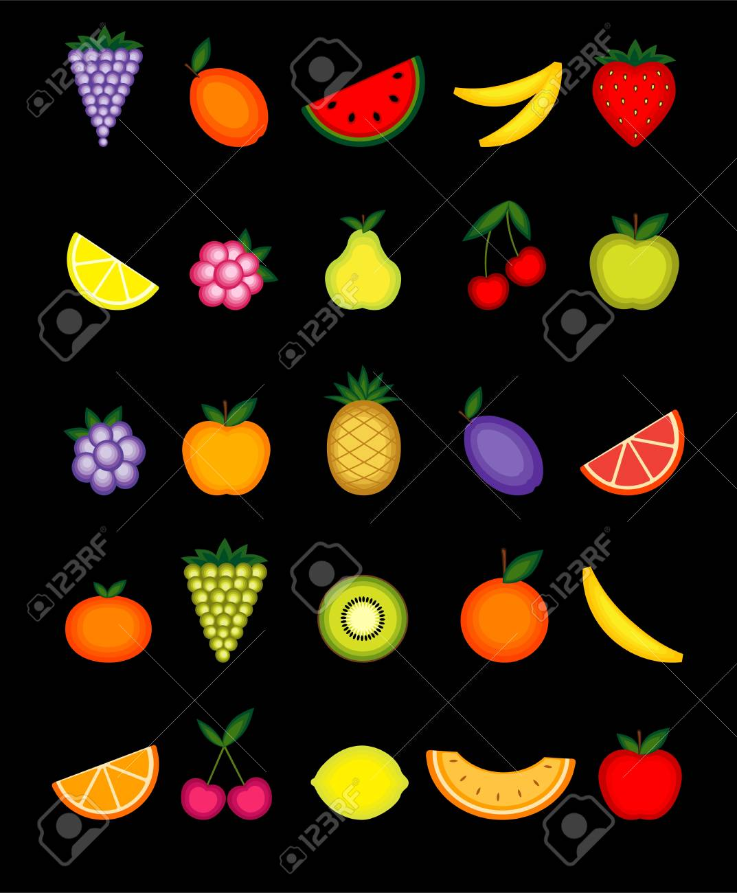 Energy fruits. collection for your design Stock Vector - 8362490