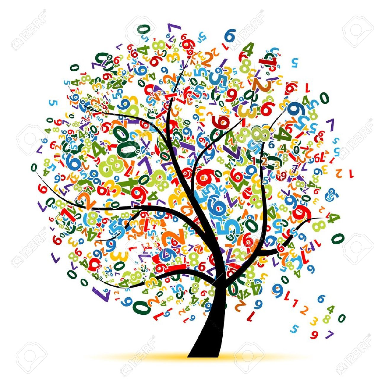 8592005-Digital-tree-for-your-design-Stock-Vector-education-mathematics-school.jpg (1300×1300)