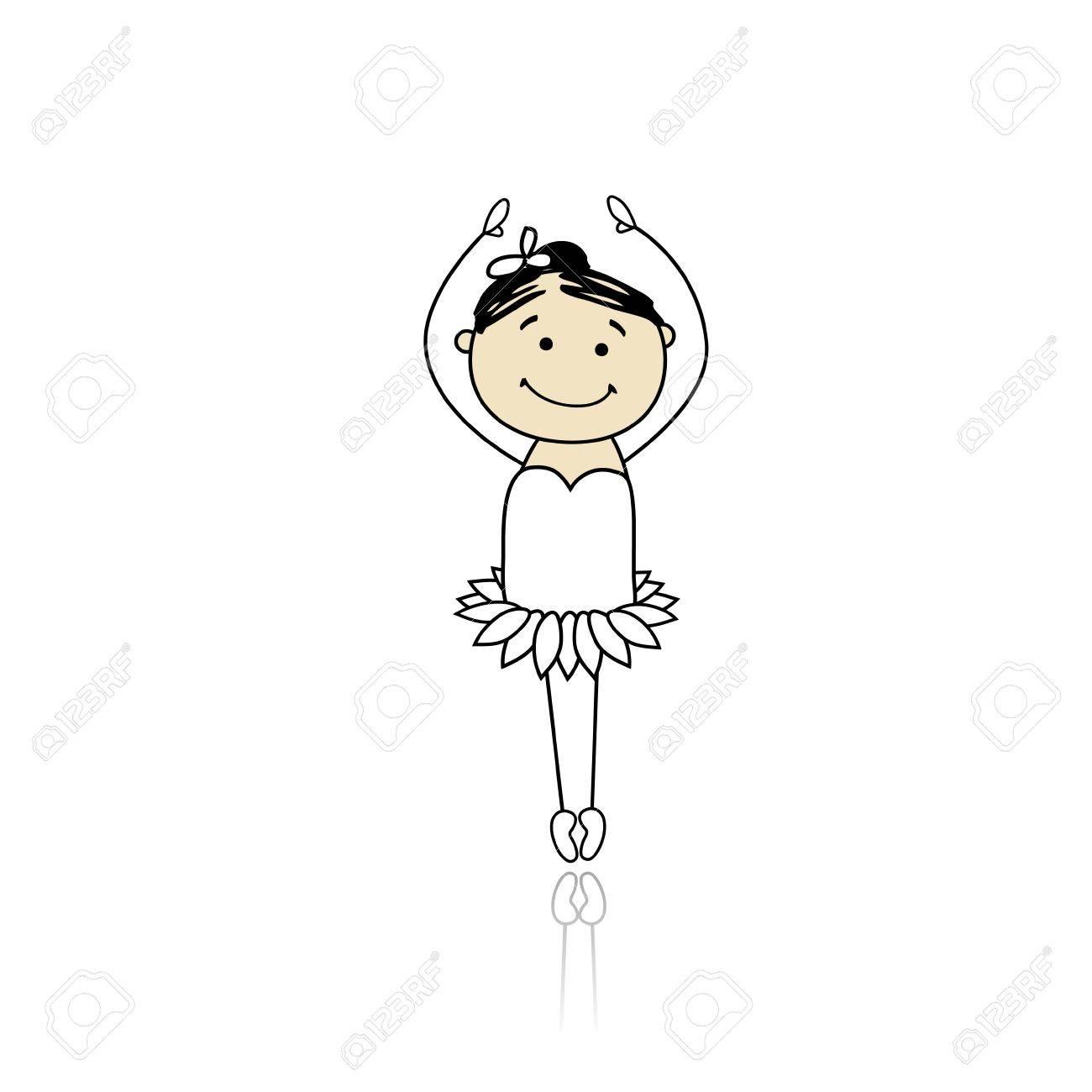 Cute little ballet dancer for your design Stock Vector - 9348140
