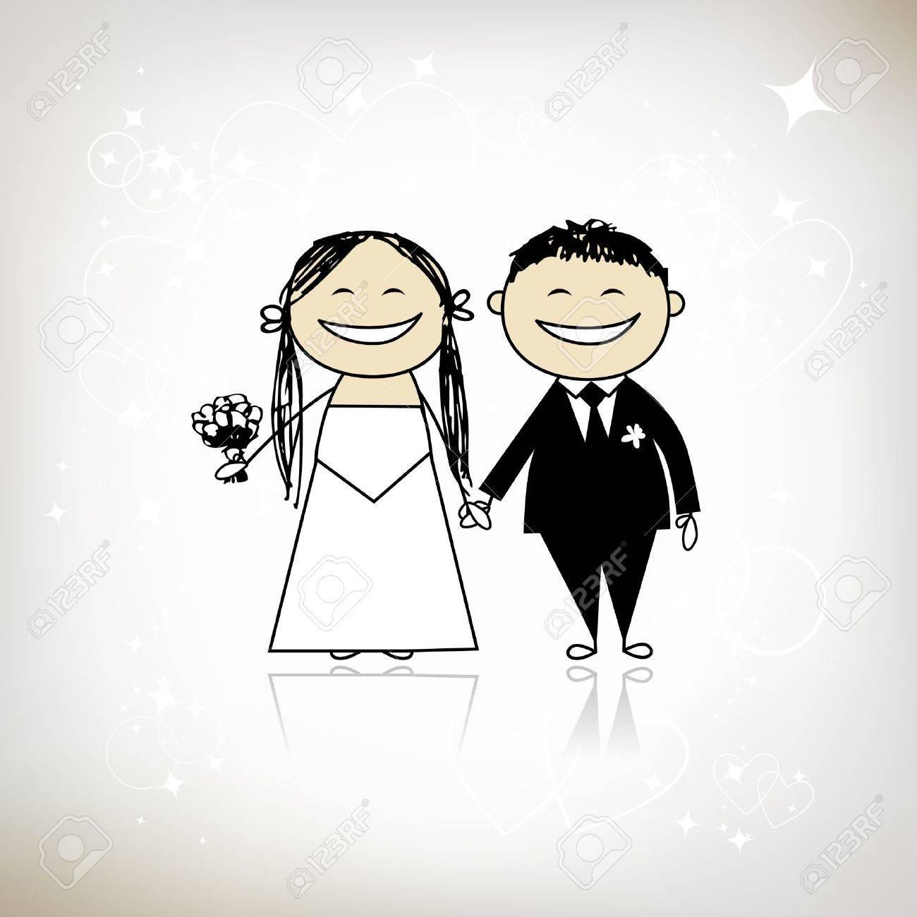 Невеста и жених карикатура