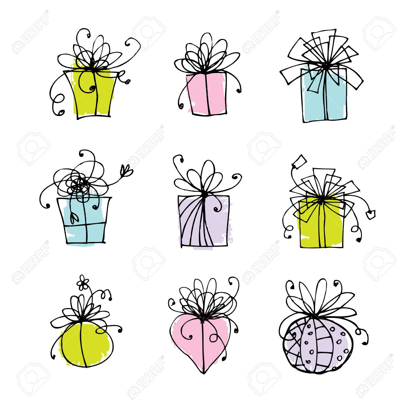 Gift box icons for your design Stock Vector - 9478437