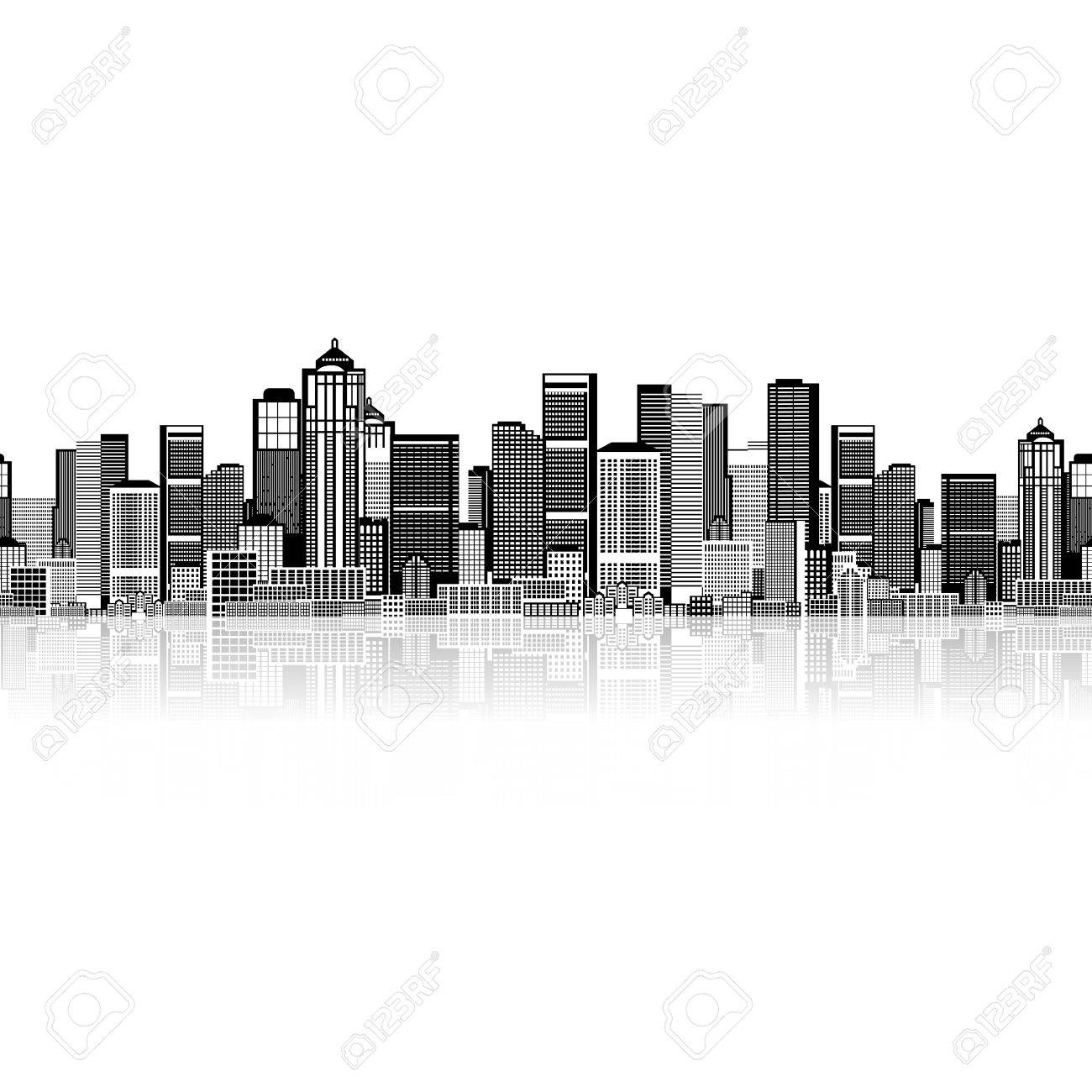 Cityscape seamless background for your design, urban art Stock Photo - 9478454