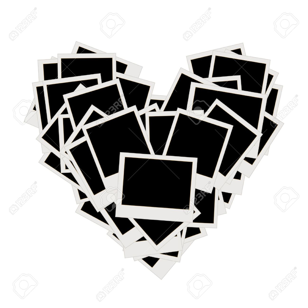 Pile Of Photos, Heart Shape, Insert Your Pictures Into Frames ...