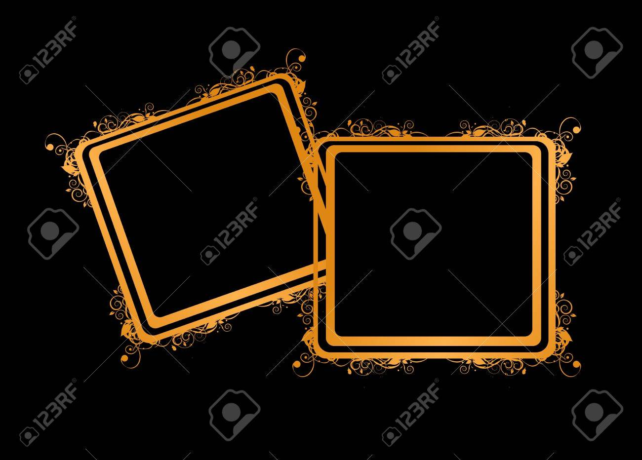Couple Of Golden Frames, Insert Your Photos Royalty Free Cliparts ...