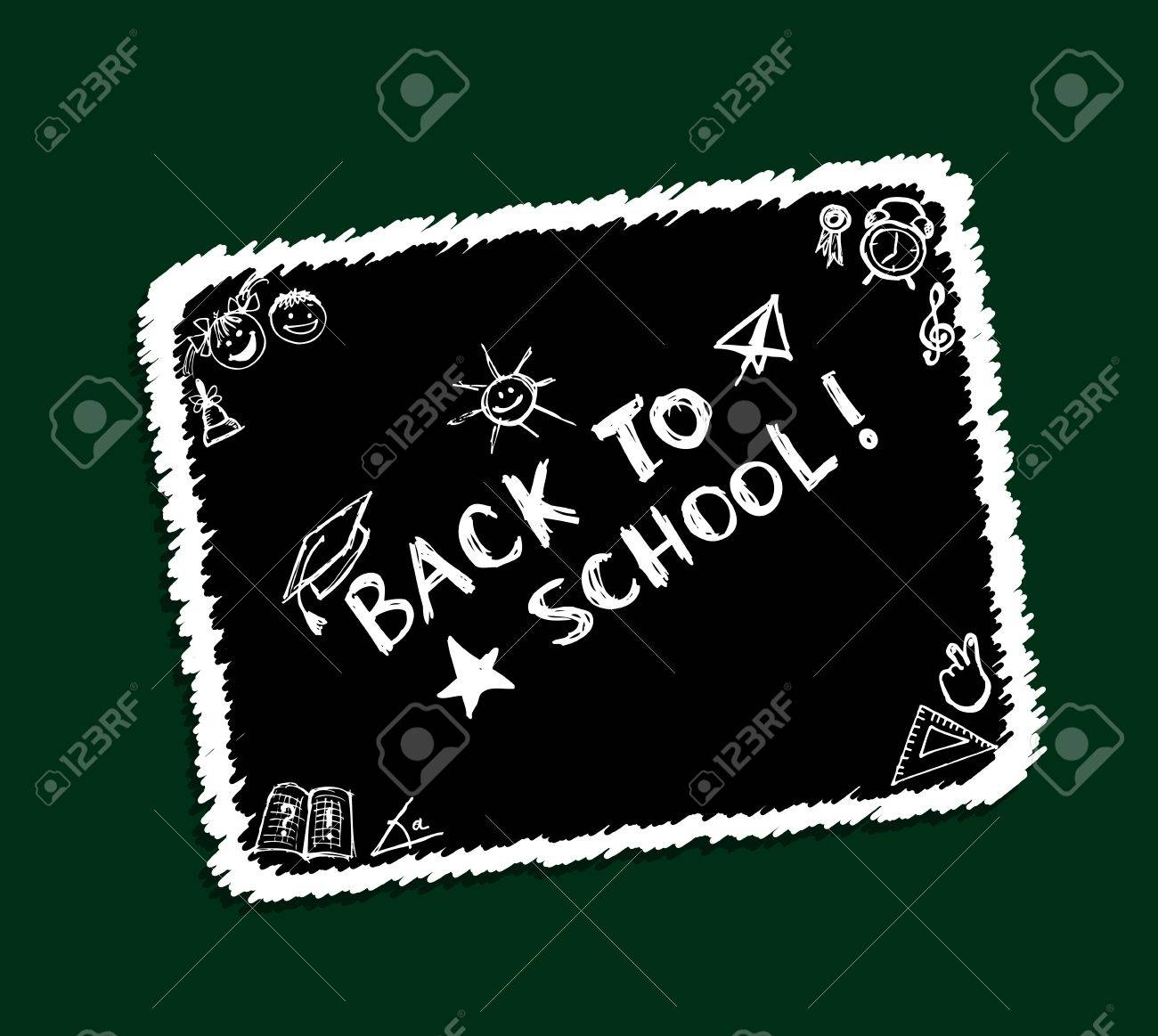 Back to school, sketch frame for your design Stock Vector - 10296971