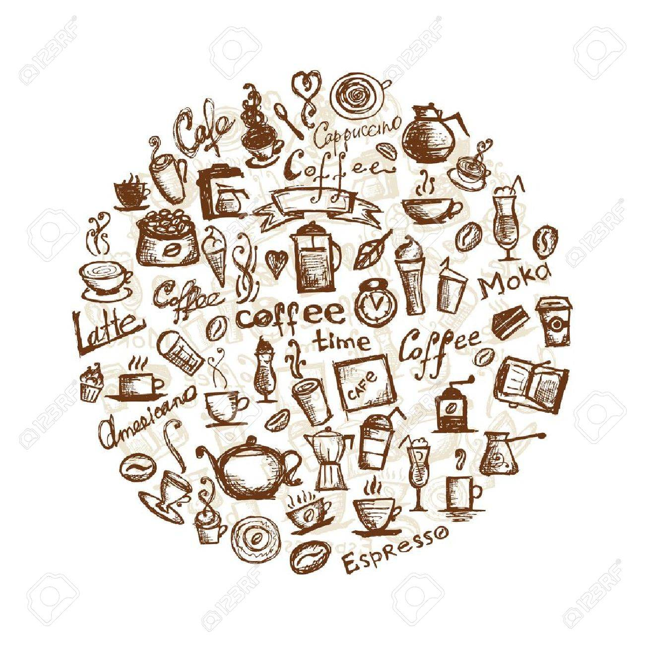 Coffee time, design elements Stock Vector - 10407421