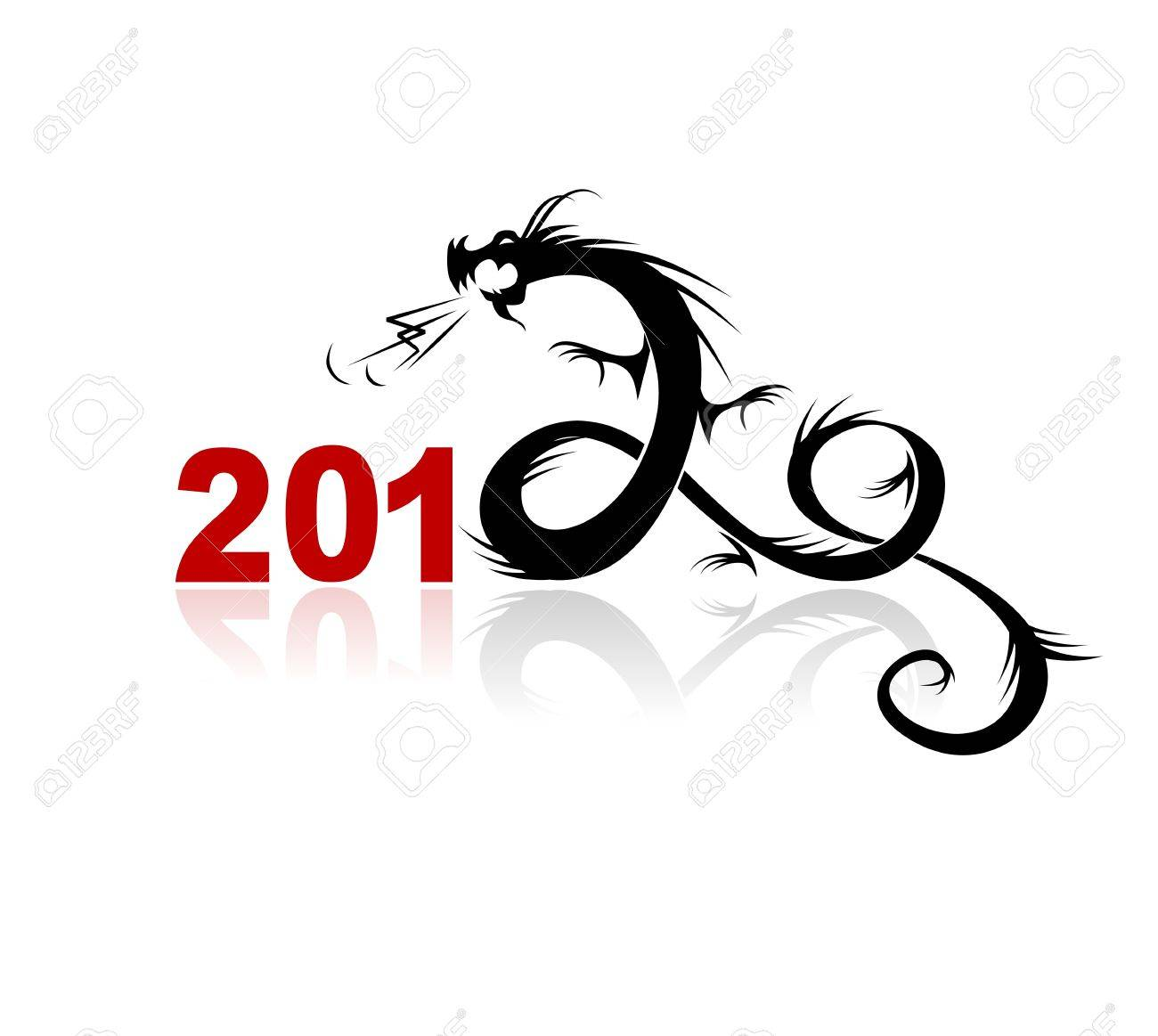 2012 year of dragon, illustration for your design Stock Vector - 10723985