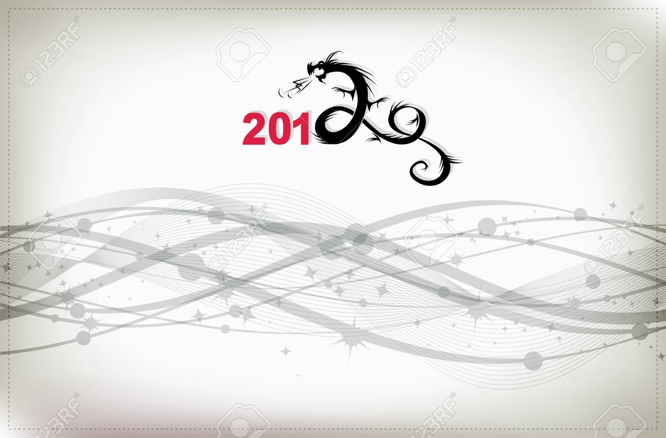 2012 year of dragon, celebration background for your design Stock Vector - 10724048