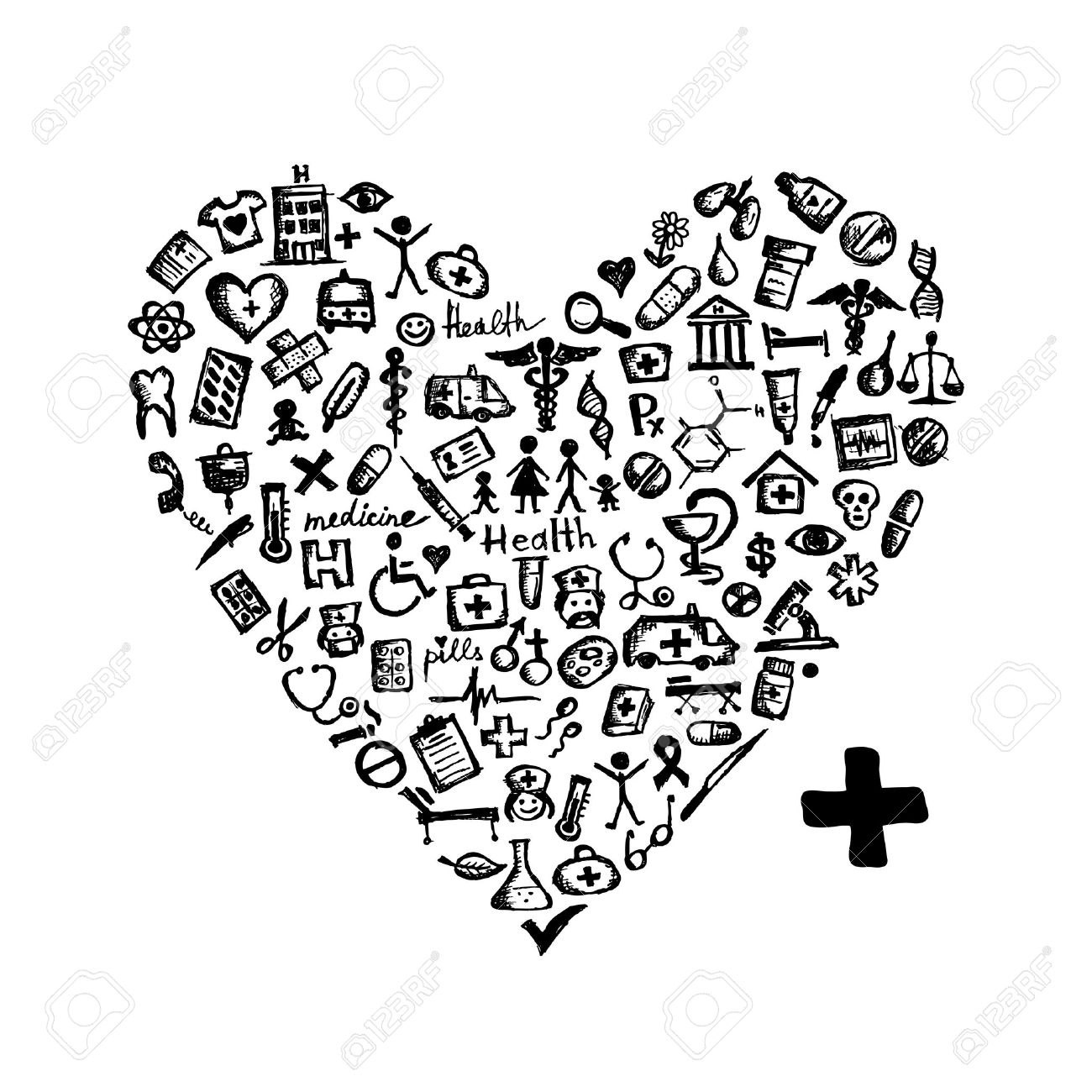 Medical Assistant Black And White Clipart
