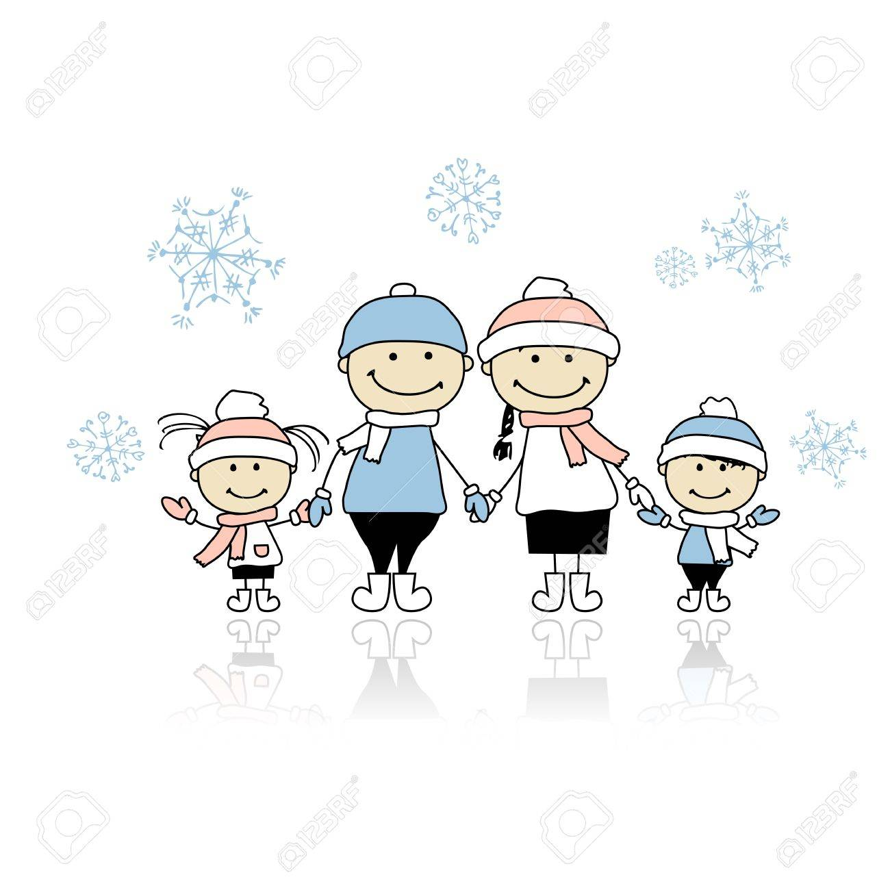 Happy family smiling together, christmas holiday Stock Vector - 11263952