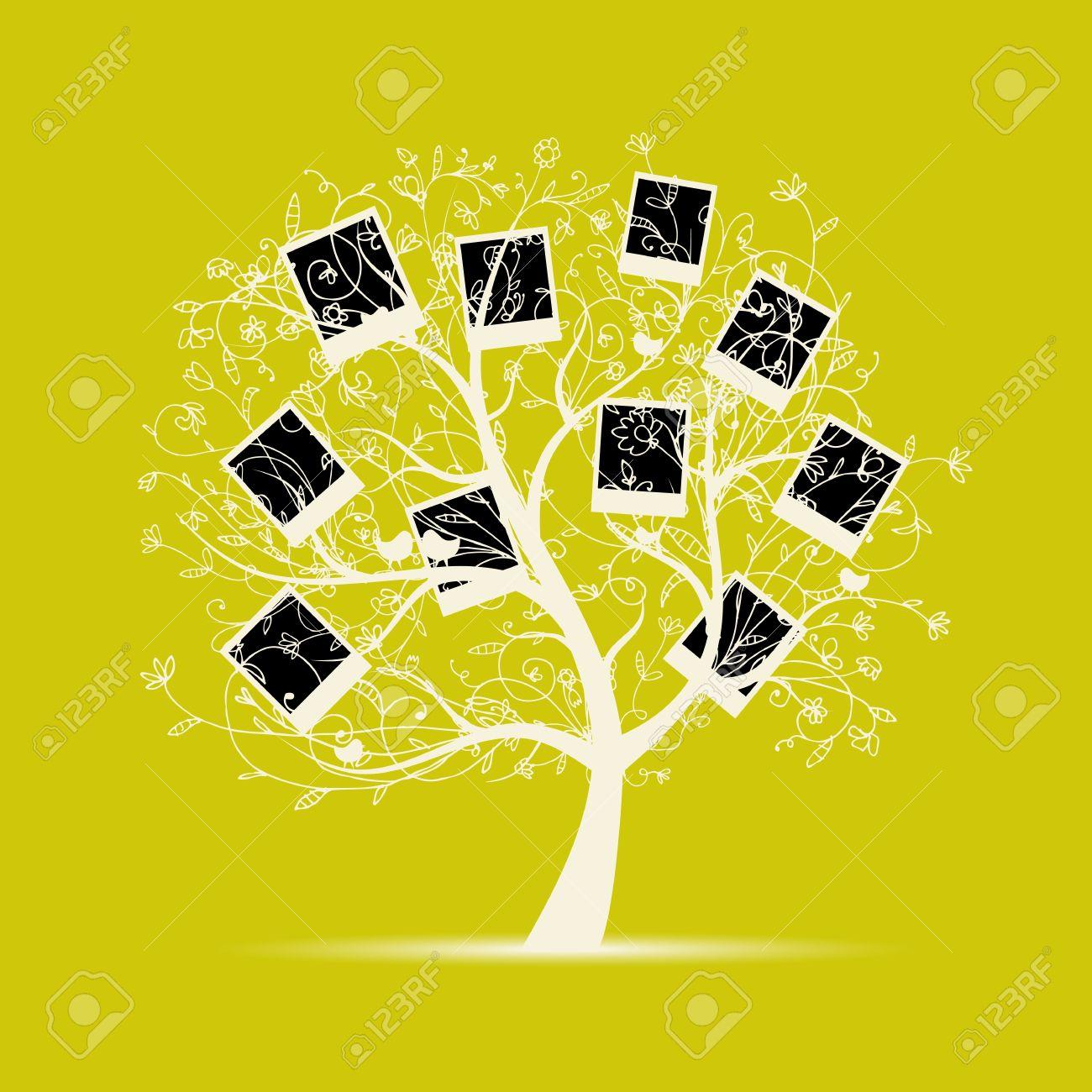 El Diseño Del árbol De Familia, Insertar Tus Fotos En Cuadros ...