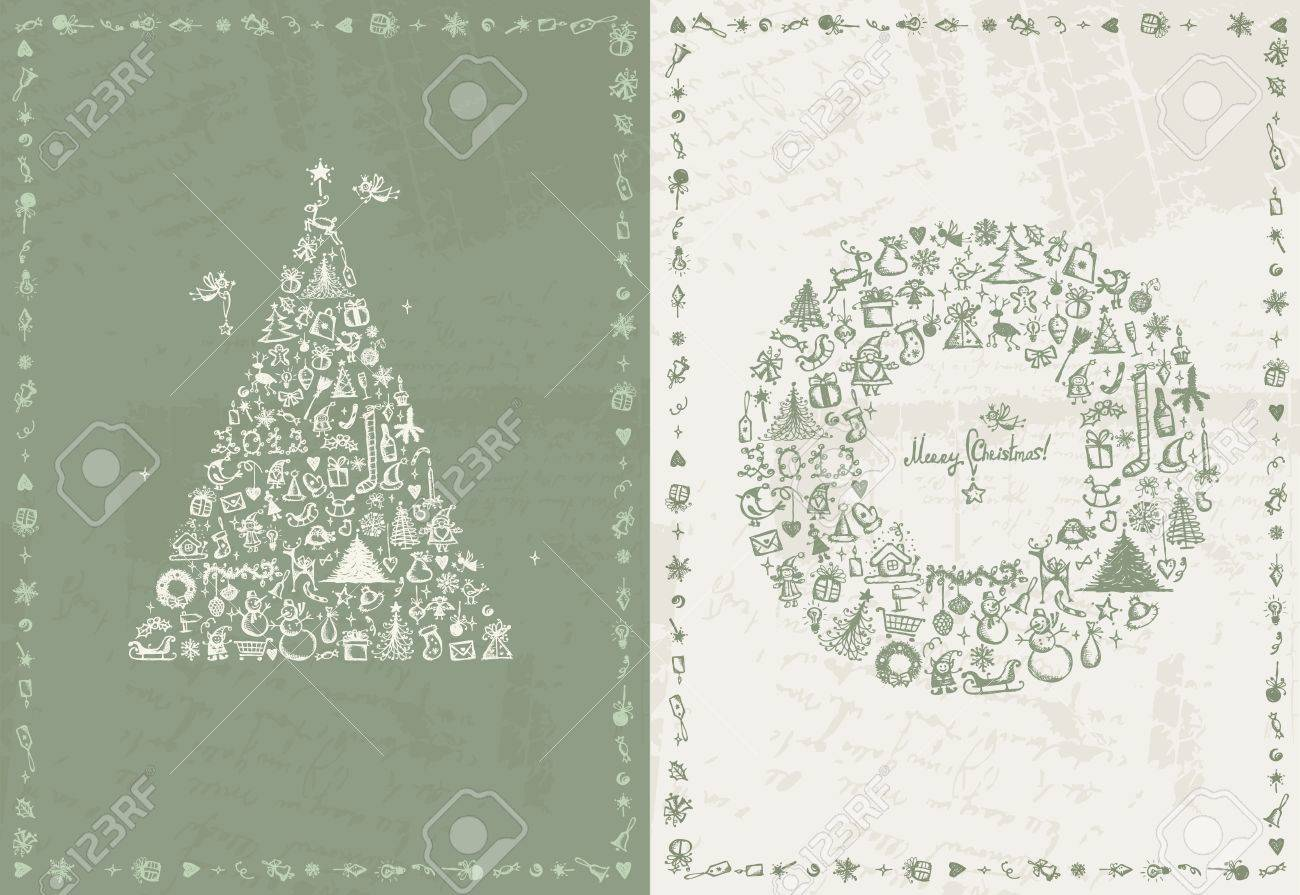 Christmas card retro for your design Stock Vector - 12015230