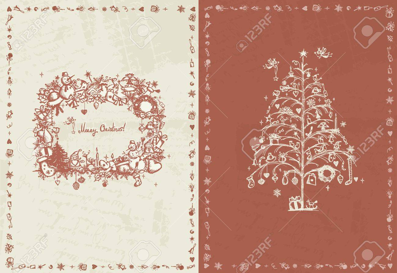 Christmas card retro for your design Stock Vector - 12015231