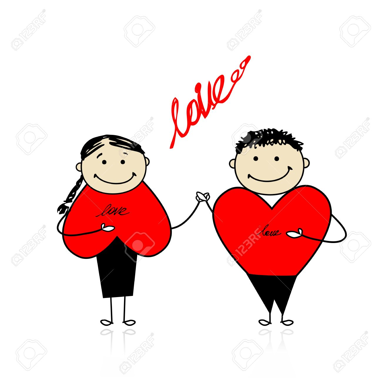Valentine Day Couple Together For Your Design Royalty Free Cliparts