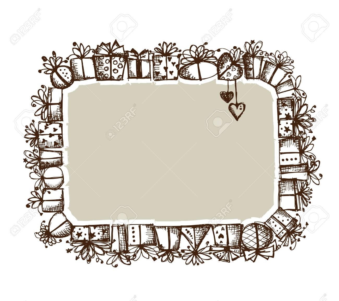 Gift boxes, frame for your design Stock Vector - 12015196