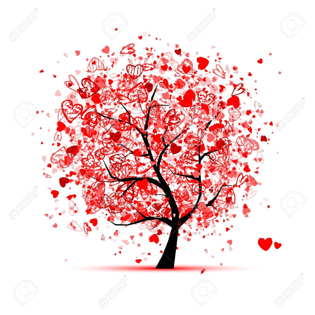Valentine Tree With Hearts For Your Design Royalty Free Cliparts Vectors And Stock Illustration Image 12016567
