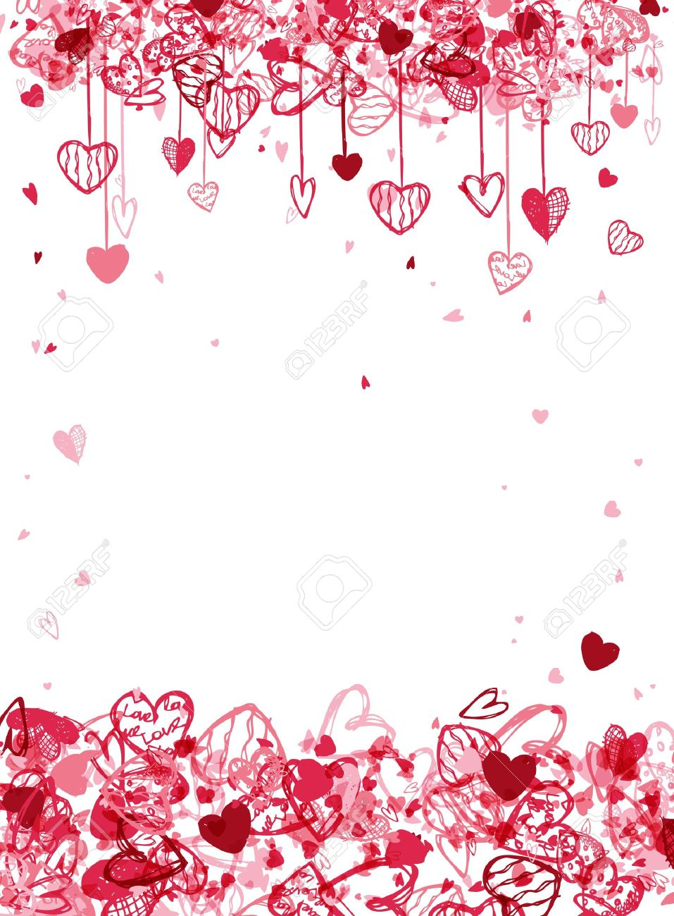 Valentine Frame Design With Space For Your Text Royalty Free ...